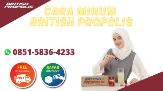 Cara Minum British Propolis